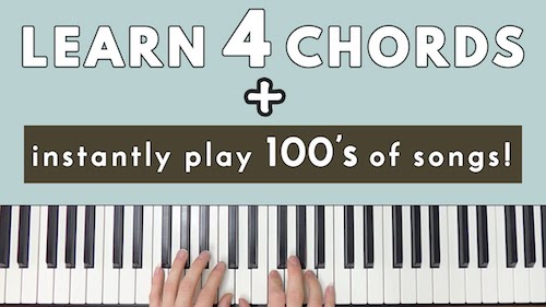 Learn 4 Chords & Instantly Be Able To Play Hundreds Of Songs – PianoPig
